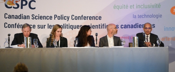 seated conference panel
