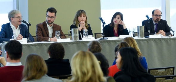 conference panel for media storms
