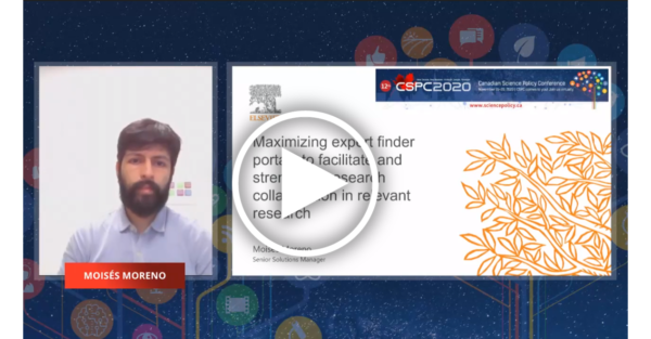 a screenshot of a bearded man next to a slide of an elsevier article bearing the session's name