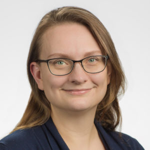 photo of a white woman with glasses