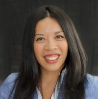 Photo of an asian woman smiling
